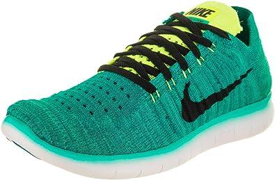 Nike Free RN Flyknit (GS), Zapatillas de Running para Hombre, Verde (Verde (Clear Jade/Black-Volt-Rio Teal), 39 EU: Amazon.es: Zapatos y complementos