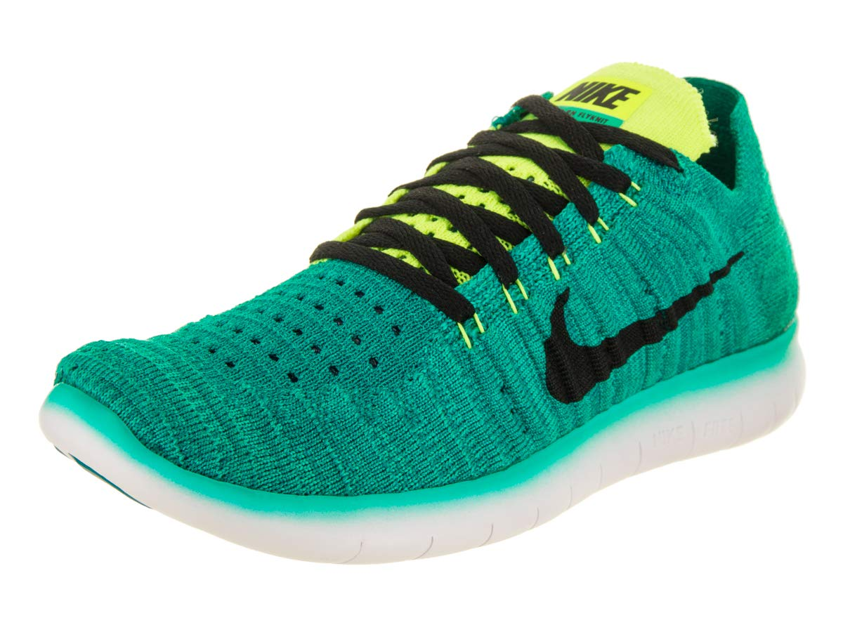 5c1d110aaab9f9 Galleon - NIKE Kids Free Rn Flyknit (GS) Clear Jade Black Volt Rio Teal  Running Shoe 5.5 Kids US