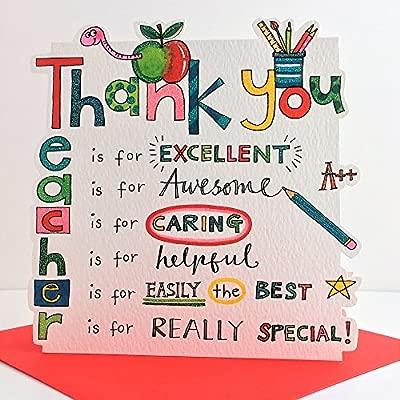 Rachel Ellen. Tarjeta de agradecimiento para profesor ...