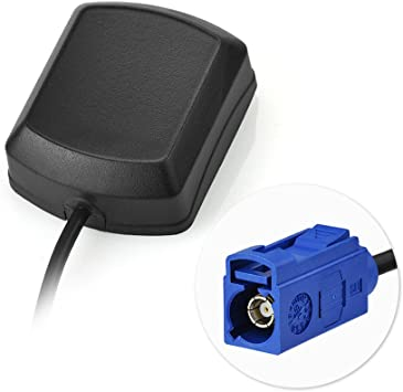 Shark Fin Fonctions Noir Antenne Compatible pour Sav // Navigation /& Fm // Am