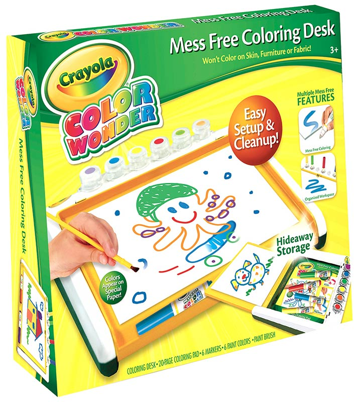 Amazon.com: Crayola Color Wonder Mess Free Coloring Desk: Toys & Games