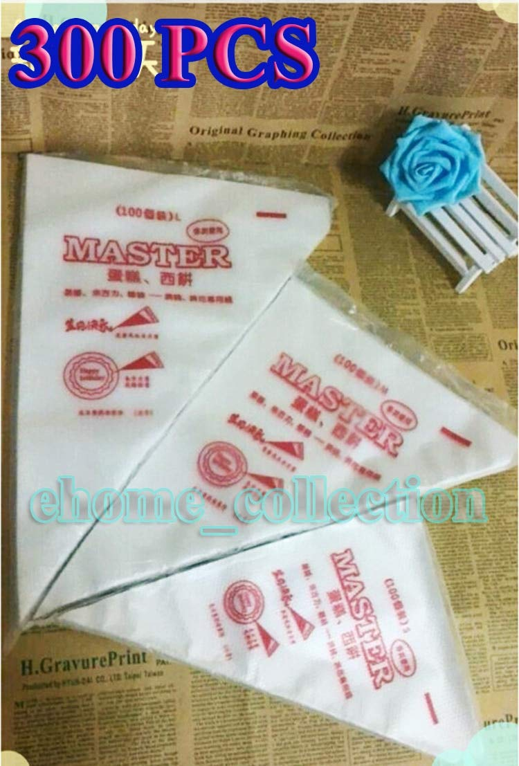 Piping Bags 3 Size 300 PCS/SET Christmas Cake Pastry Cupcake Decorating Bags Disposable Piping Bag Kitchen Accessories