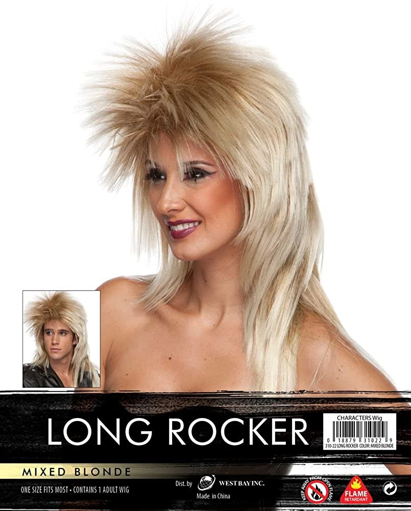 Long Rocker Wig - Mixed Blonde