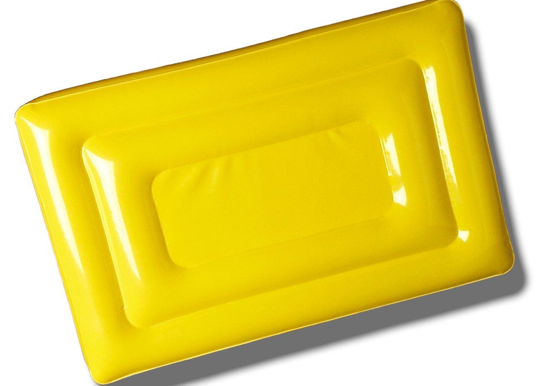 PocketSeat Inflatable Stadium Seat Cushion 9x13 Yellow