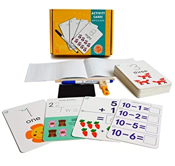 Buy Halo Nation Kids Toddlers Learning Flash Cards Iq Activity Card Write Wipe Educational Cards With Activity Book Ages 3 And Up Preschool Number Letter Picture Recognition Numbers Online At Low Prices