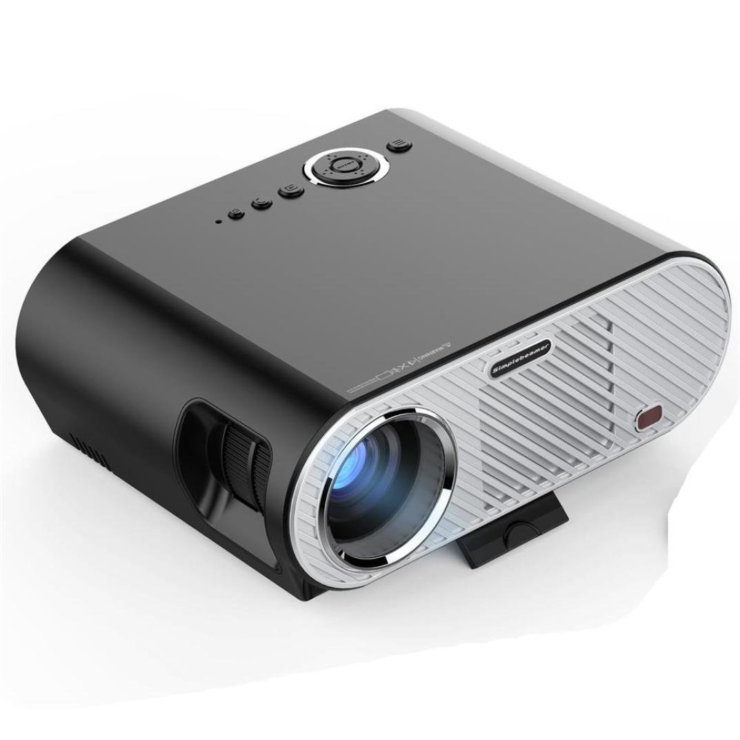 Botrong GP90 Video Projector 3200 lumens Resolution 1280x720 5.0 Inch LCD TFT Support 1080P by Botrong®
