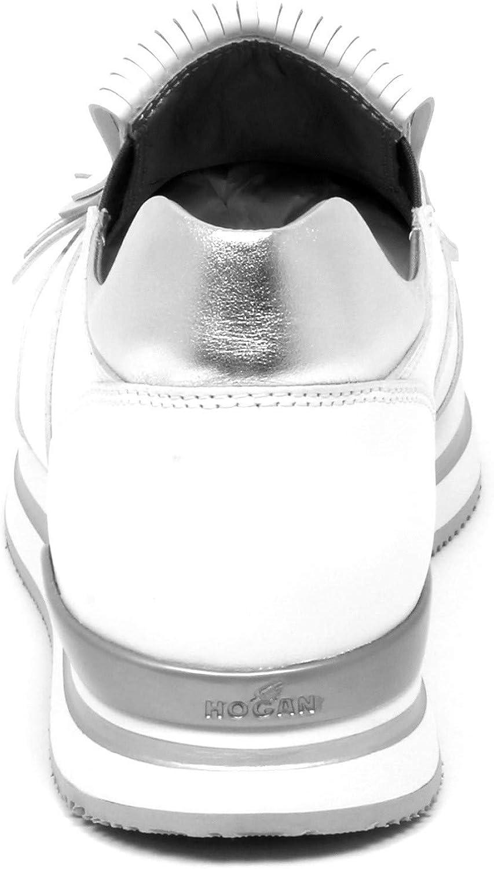 Hogan E9006 Sneaker Donna Silver/White H222 Mocassino Frangia Slip ...