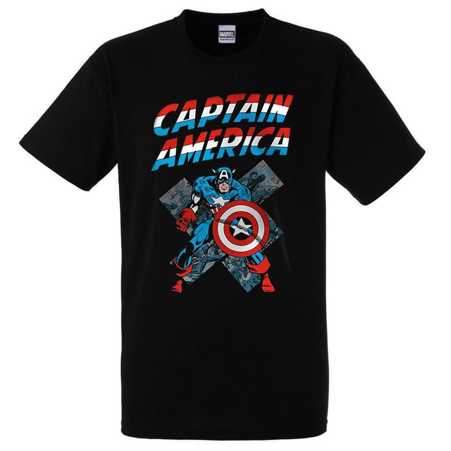 Marvel - Abystyle Officially Licensed - Capitan America Captain T-Shirt Camiseta T Shirt 100% Oficial (XX-Large): Amazon.es: Ropa y accesorios
