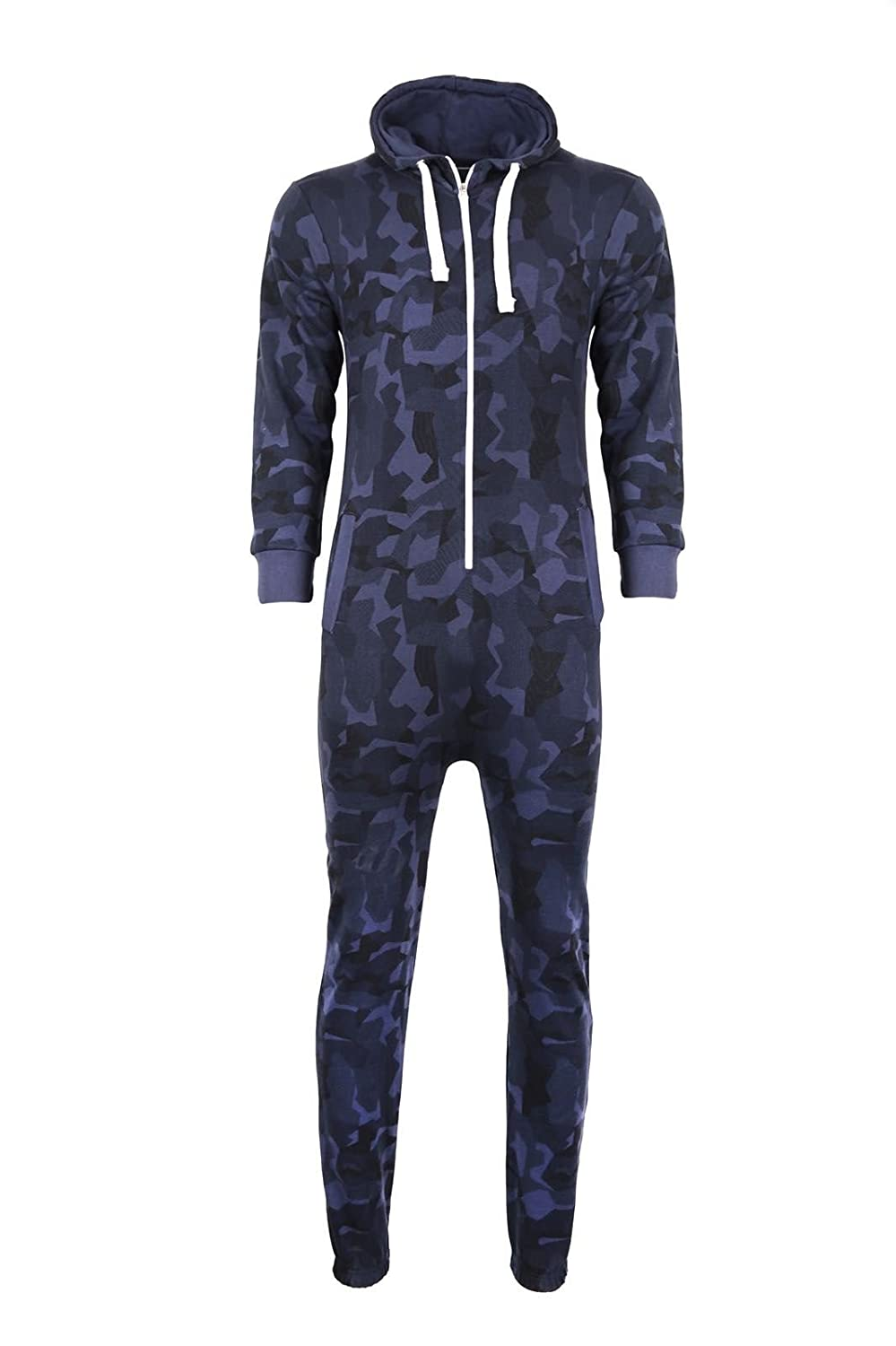 Kids Girls Boys Onesie Extra Soft Camouflage Aztec Print All in One Zip Up Hooded Tracksuit MMT