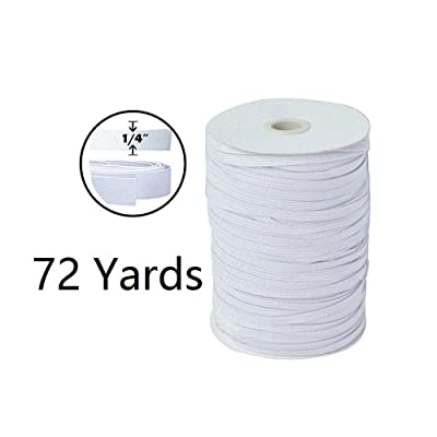 "DIY Elastic Cord 72-Yards Length 1/4"" Width White Braided Elastic Rope High Elasticity Elastic Bungee for DIY Crafts & Sewing…: Arts, Crafts & Sewing"