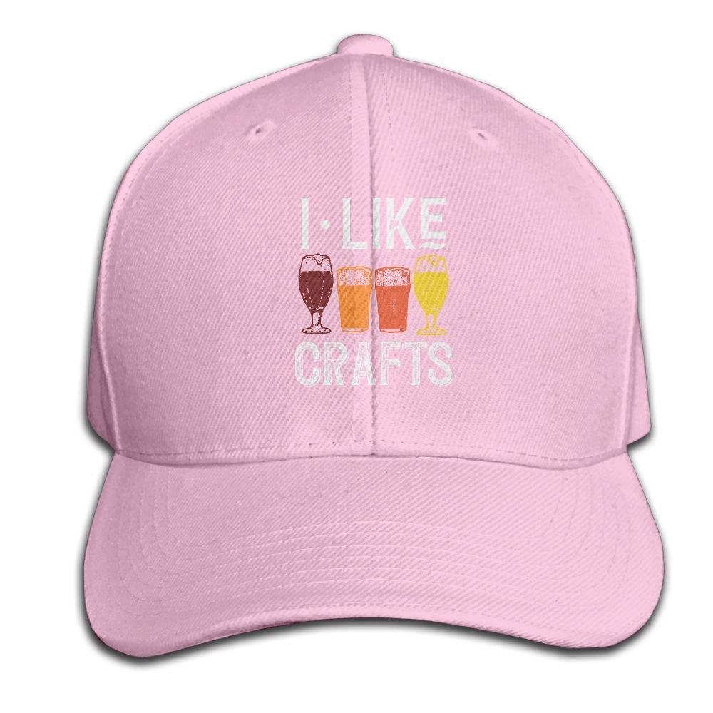 HXXUAN Baseball Hats I Like Crafts Beer Snapback Sandwich Cap Adjustable Peaked Trucker Cap