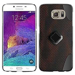 TopCaseStore / la caja del caucho duro de la cubierta de protección de la piel - Sci-Fi Pc Art Pattern Grey - Samsung Galaxy S6 SM-G920