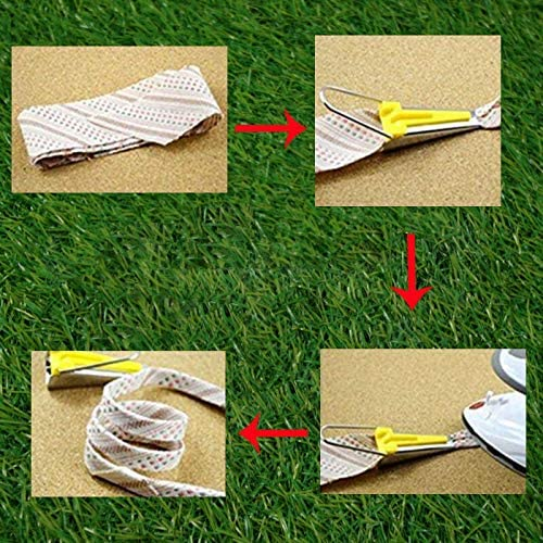 FreeLeben Bias Tape Maker Kit 6mm 12mm 18mm 25mm Fabric Bias Tape Maker Set DIY Sewing Tool Accessories