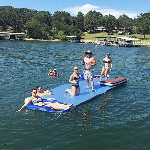 Outroad Floating Mat 12' X 6' - Recreational Floating Foam Pad Adults Kids (Blue)- Lily Pad Used in Ocean/Lake by OUTROAD OUTDOOR CAMPING GARDEN PATIO (Image #3)