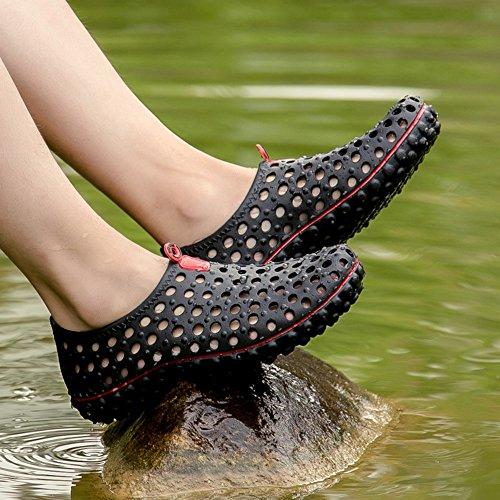 Shoes Summer piedi Quick Black 42 Dry a Scarpe nudi Blue da atletici EU giardino Size Sandali Unisex Beach Water Color S7tIIB