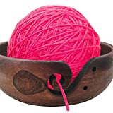 Onebook Unique Yarns Holder Organizing Wooden Bowl for Knitting Sew Threads Drawing 20cm
