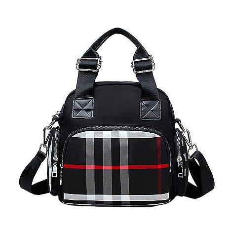 2bd20fe3e9 Amazon.com  Womens Nylon Crossbody Bag Fashion Flower Printing Shoulder  Purse Leisure Travel Bag Handbags Multi Purpose Mummy Backpack  Sports    Outdoors