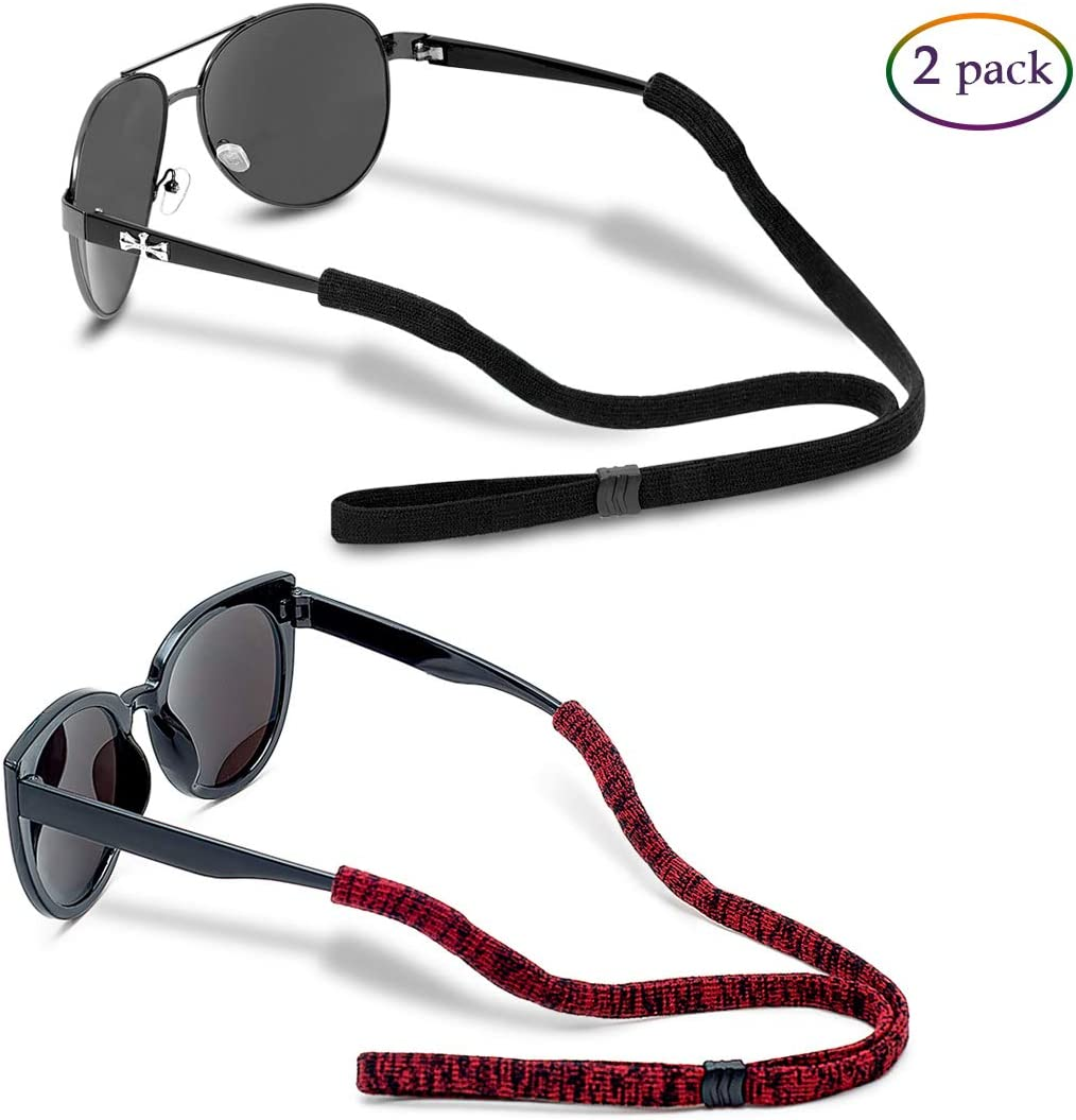 2 X New Black Strong Glasses Sunglasses Neck Strap Cord Spectacle Lanyard Holders