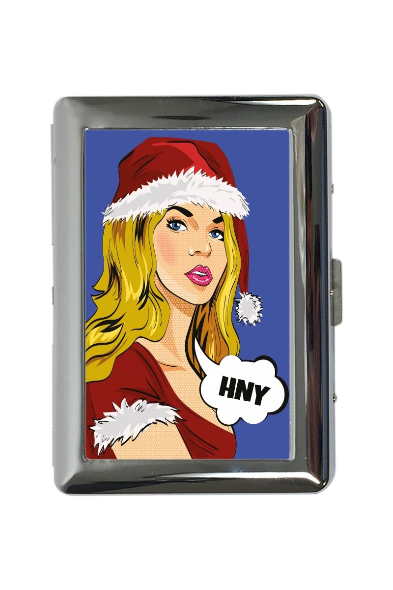 pitillera cigarrera Decorativo Divertido Señora de Santa Claus impreso Fun 300EQ48710953