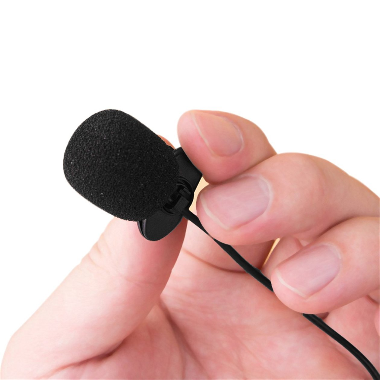 BIYI Nuevo Mini port/átil 3.5mm Mini Studio Speech Mic Micr/ófono con Clip para PC PC port/átil de Escritorio Conferencias Docencia Micr/ófono Negro Negro