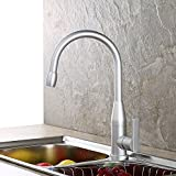 Furesnts Modern home kitchen and Bathroom Sink Taps Space aluminum single hole hot and cold Bathroom Sink Taps,(Standard G 1/2 universal hose ports)