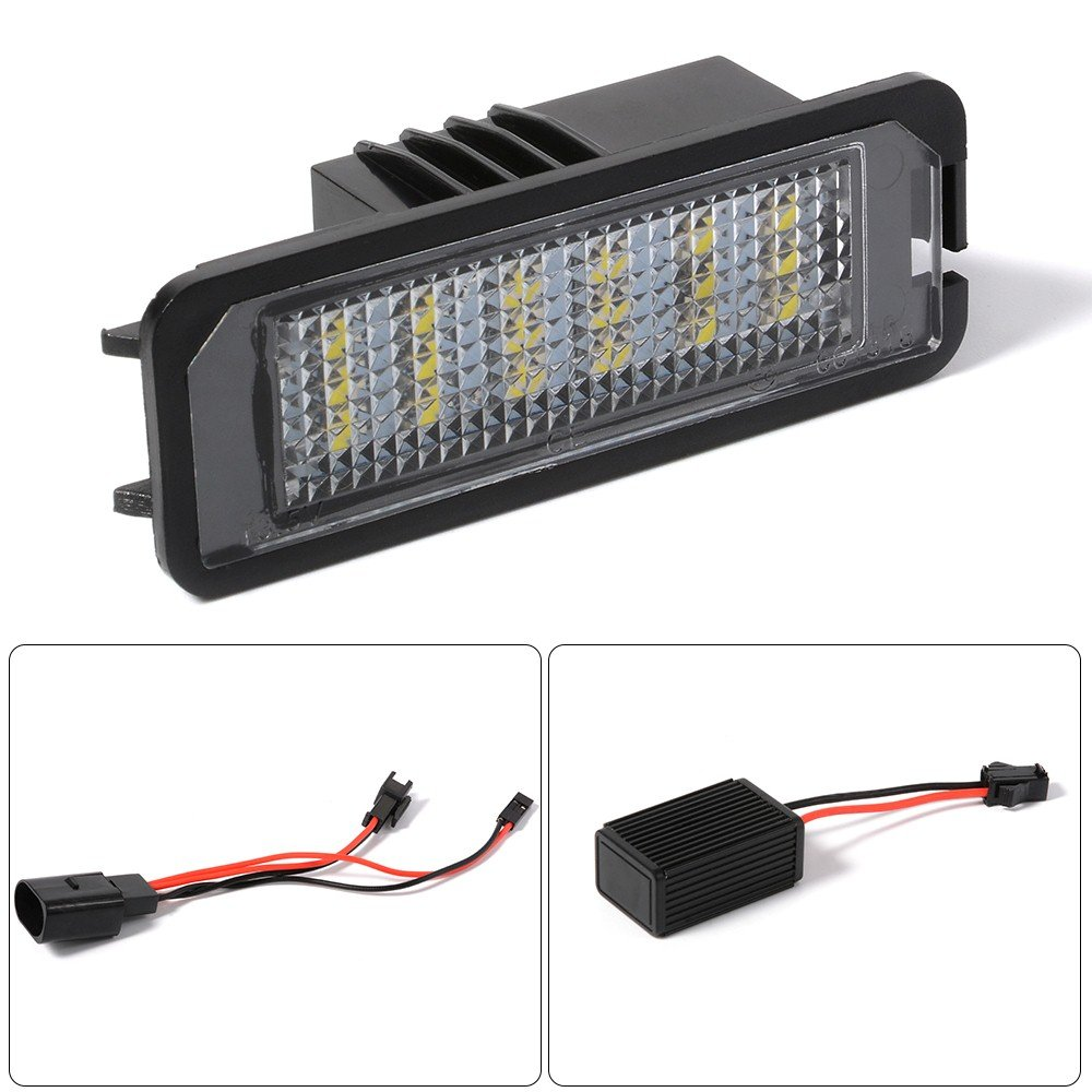 Efikeco 2pcs licencia placa lámparas de luz con decodificador, Ultra Bright 3528 SMD: Amazon.es: Coche y moto