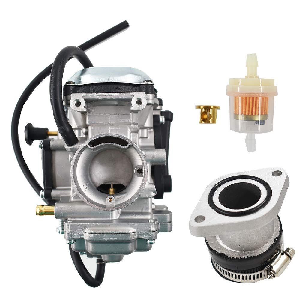 labwork Carburetor and Intake Manifold Fit for Yamaha Bear Tracker 250 1990-2006 / YFM250 Big Bear 350 YFM 1999-2004 by labwork