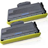 2 High Yield Inkfirst Toner Cartridge TN-360 (TN360) Compatible Remanufactured for Brother TN-360 Black MFC-7340 MFC-7345N MF