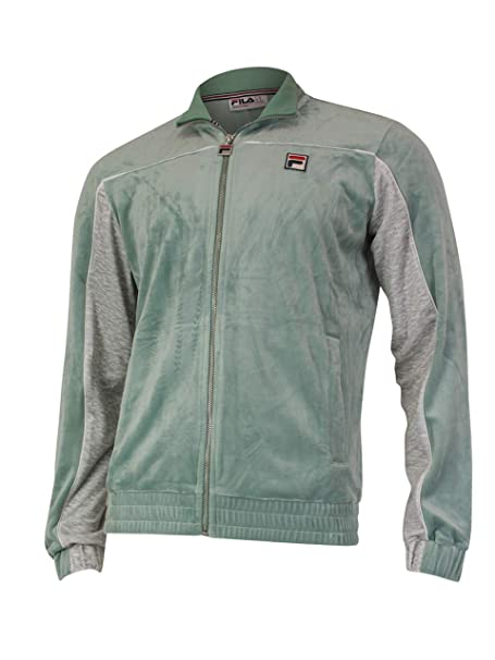 Amazon.com: Fila Cisco Zip Front Velour Track - Chaqueta ...