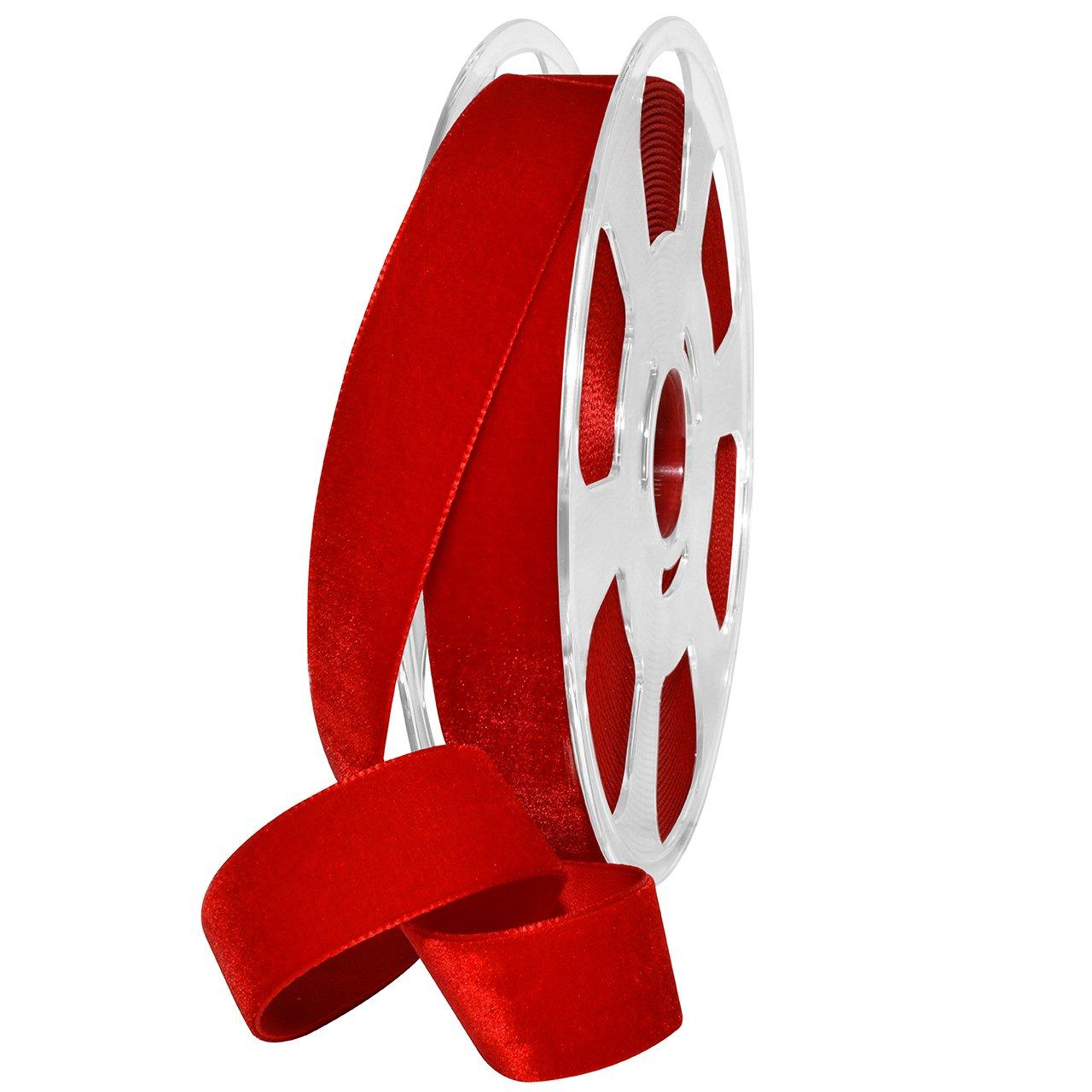 Morex Ribbon Nylvalour Velvet Ribbon Fabric 5//8 x 11 Yd Apricot