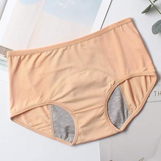 EHSEDF Bragas Pantalones Fisiológicos Pantalones De Prueba Ropa De Mujer Ropa Interior Menstrual Bragas A Prueba De Fugas Algodón Salud Seamless Briefs: Amazon.es: Hogar