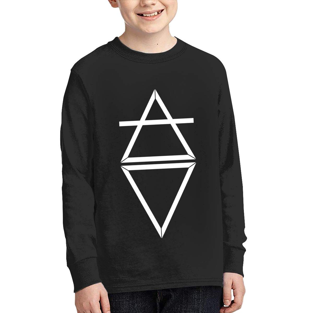 MichaelHazzard Florence and The Machine Logo Youth Casual Long Sleeve Crewneck Tee T-Shirt for Boys and Girls