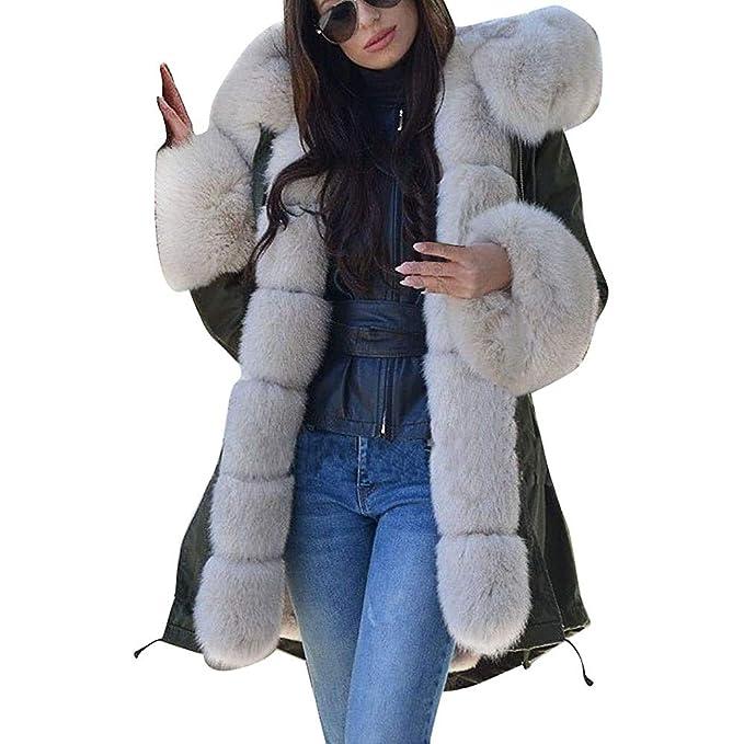 Amazon.com: COPPEN - Chaqueta de invierno con capucha de ...