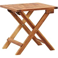 vidaXL Solid Acacia Wood Folding Garden Coffee Table Outdoor Tea Side Stand Patio Porch Backyard Terrace Balcony…