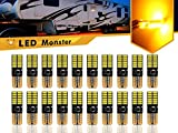 LED Monster 20-Pack Amber LED Light Bulbs RV Trailer 24-SMD T10 921 194 168 2825 12V Backup Reverse Interior Side Trailer (Amber)