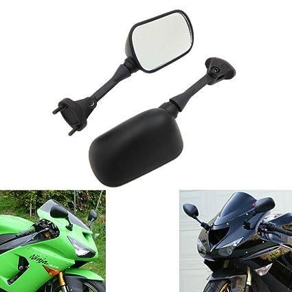 Amazoncom Mzs Motorcycle Mirrors Rear View For Kawasaki Ninja Zx6r