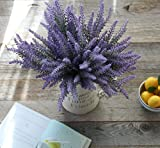 country kitchen table diy Artificial Lavender Flowers 4 large pieces to make a bountiful flower arrangement nearly natural fake plant to brighten up your home party and wedding decor (4 Pieces)