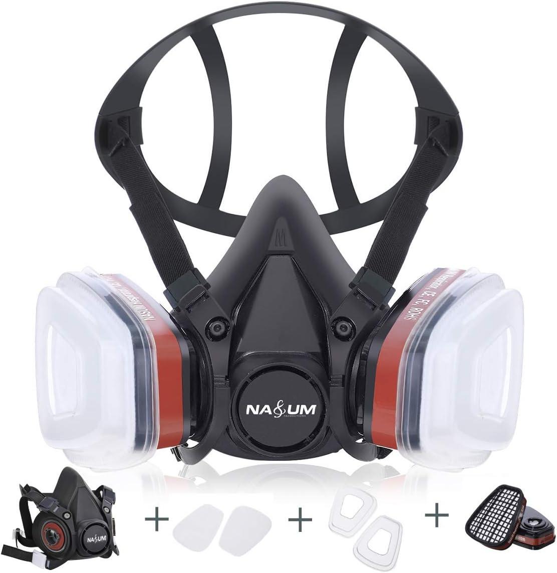 Facial Cubierta NASUM, con 2 Filtros / 2 Cajas / 2 Algodones de Filtro, Contra Polvo / Partículas / Gas , para Pulverización / Pintura / Industria / Agricultura