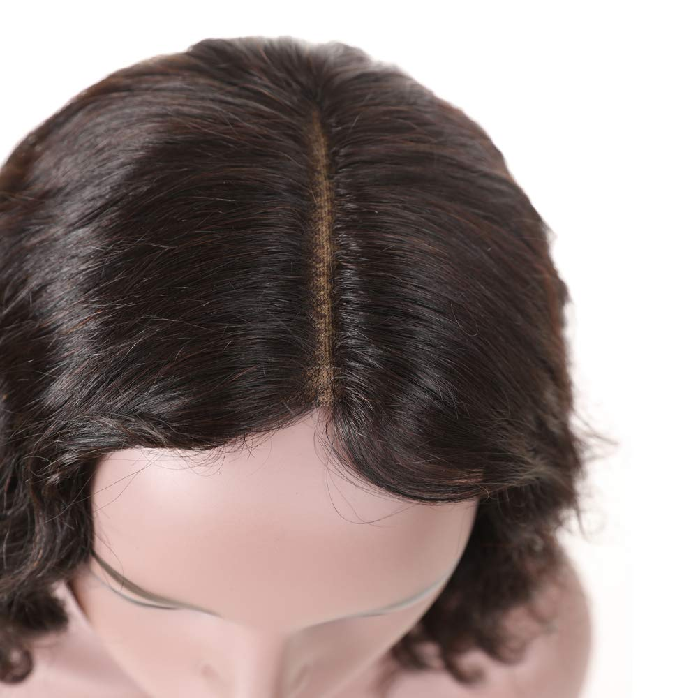 Amazon.com: Short Human Hair Wig For Black Women, UDU Lace Frontal wig 10inch Middle Part Short Wavy Wigs, Brazilian Body Wave Lace Wigs: Beauty