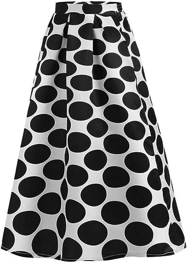 Conquro-falda con Estampado de Lunares para Mujer Falda Apuesta ...