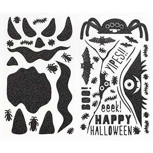 Martha Stewart Pumpkin Stickers, Monsters Glittered (Martha Stewart Halloween Decor)