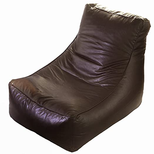 Faux Leather Brown Curve Chaise Lounge Gaming Chair Bean Bag Seat COVER ONLY  sc 1 st  Amazon UK : bean bag chaise lounge - Sectionals, Sofas & Couches