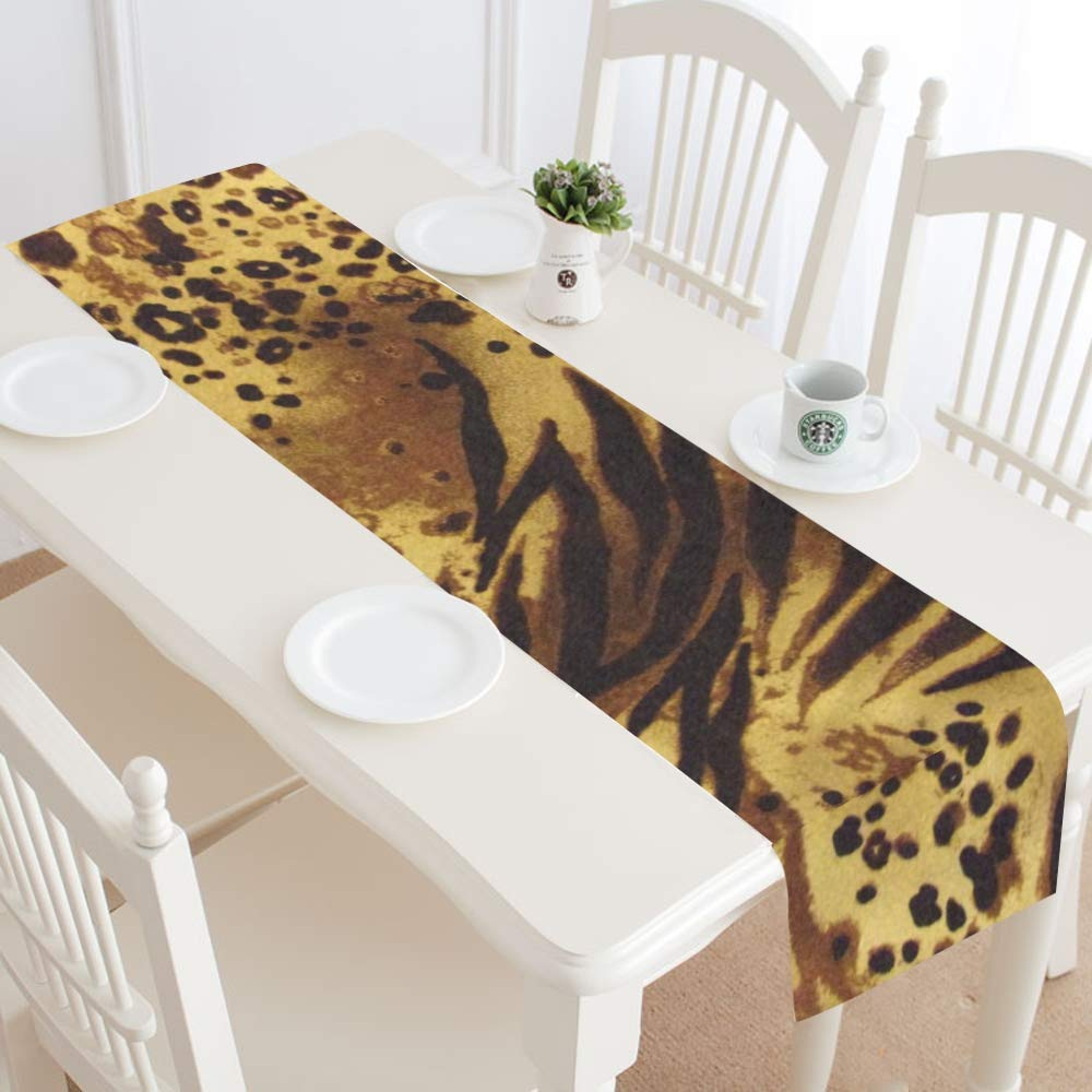 Jnseff Pattern Tiger Stripes Print Animal Safari Table Runner, Kitchen Dining Table Runner 16 X 72 Inch For Dinner Parties, Events, Decor by Jnseff (Image #2)