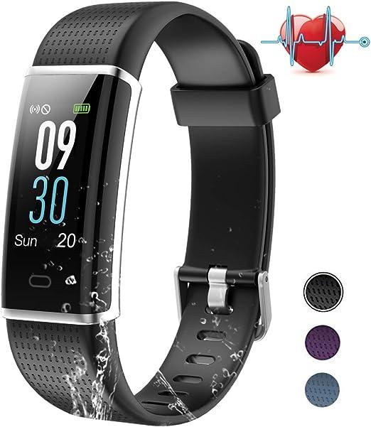 BANLVS Pulsera Actividad, Pulsera Inteligente con 14 Modos de Deporte, GPS Pulsómetro Monitor de Ritmo Cardíaco Sueño, Monitor de Actividad Impermeable IP67 Reloj Inteligente para iOS y Android: Amazon.es: Deportes y aire