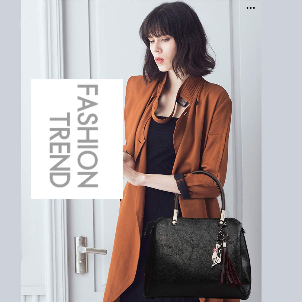 Handbags for Women Fashion Shoulder Clutches Bags Shopping Bag Tote Bag with Shoulder Strap for Ladies Girls