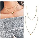 Wowanoo Choker Necklace Set Multilayer Layers Chain Clavicle Necklace Jewelry for Women