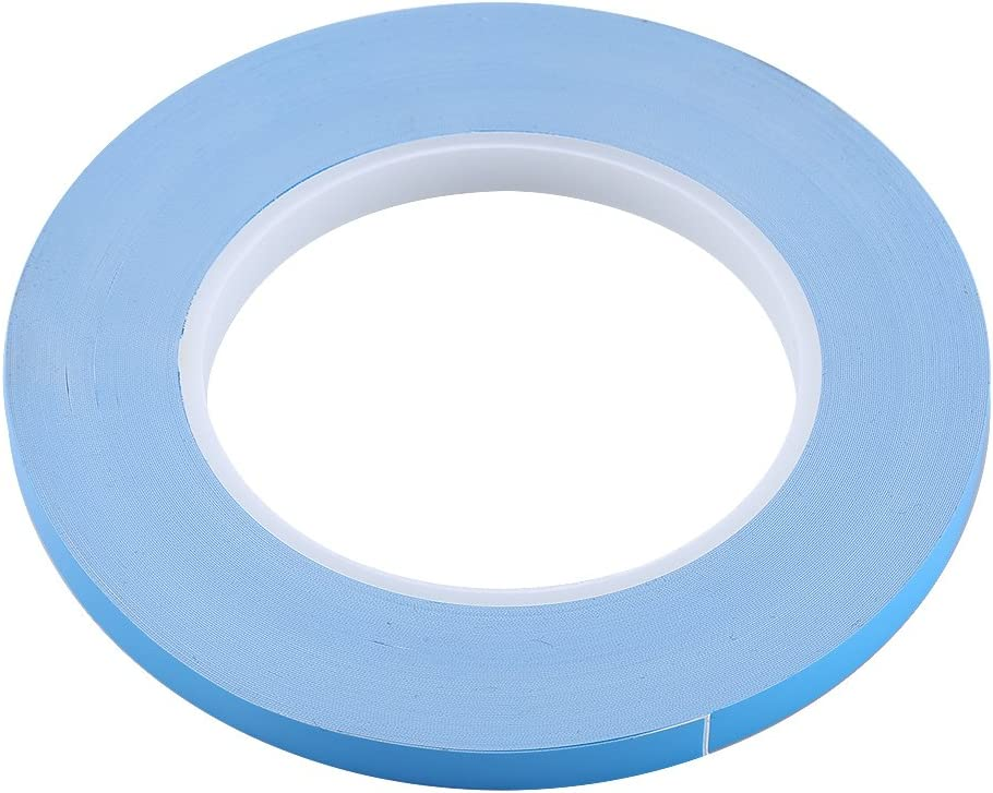 0.03 x 0.008Inch Thermal Adhesive Tape,High Performance Double-Sided Thermal Conductive Adhesive Tap Cooling Tape for Heatsink Chipset IC LED fosa 8 x 0.2mm