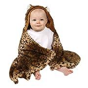 Cheetah Faux Fur Hood Wrap Blanket