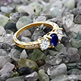 264-Ct-Oval-Blue-Sapphire-18K-Yellow-Gold-Plated-Silver-3-Stone-Engagement-Ladies-Ring-Available-in-size-5-6-7-8-9