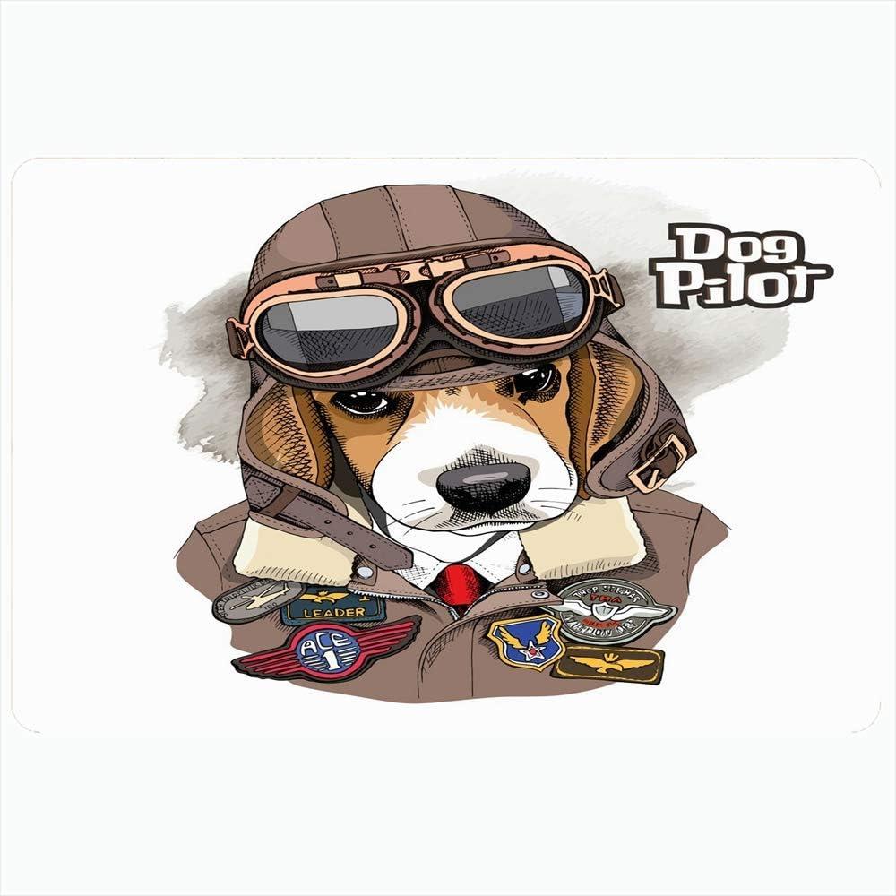 Alfombra de baño para baño Alfombrillas antideslizantes Beagle Pilot Aviator Helmet Chaqueta de cuero Personaje Animales Vida salvaje con belleza Moda Avión Felpa Decoración Felpudo Alfombrilla antide